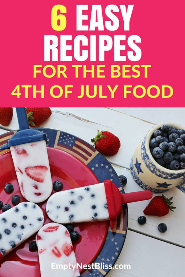 4th of July holiday food recipes that are super delicious and festive! Summer picnic recipes. #july4th #4thofJuly #summerfun #holiday #grillingrecipes