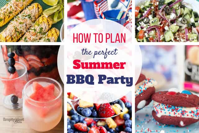 Great Ideas for how to plan a BBQ party menu that everyone will love!