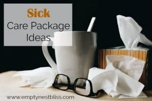 Great ideas for a sick care package for your college student.