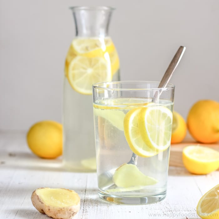Detox Water with Lemon and Ginger