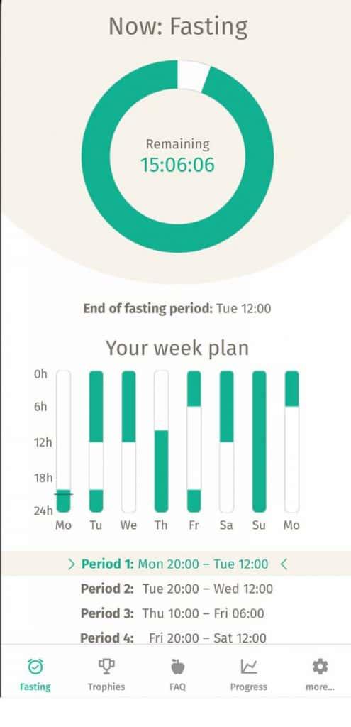Bodyfast fasting app.