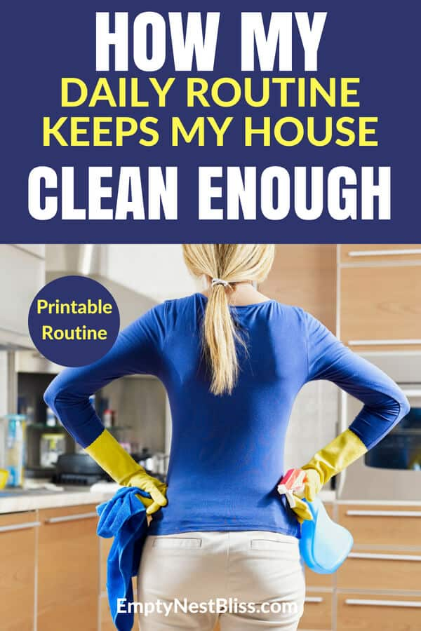 How my daily cleaning schedule printable keeps my house looking great! #cleaning #cleaningtips