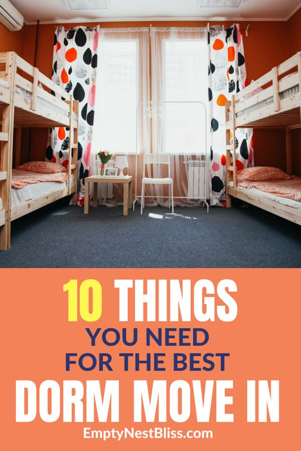 Move in dorm tips and hacks and move in dorm list for the easiest college move in day ever. #dormroom #dorm #college #parenting