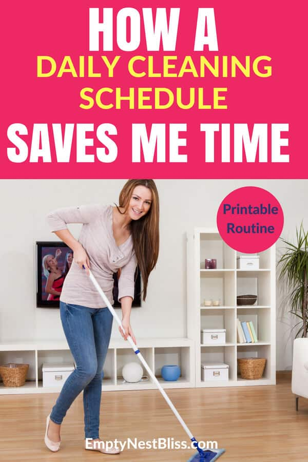 How my daily cleaning schedule saves my time and sanity! #cleaning #cleaningtips
