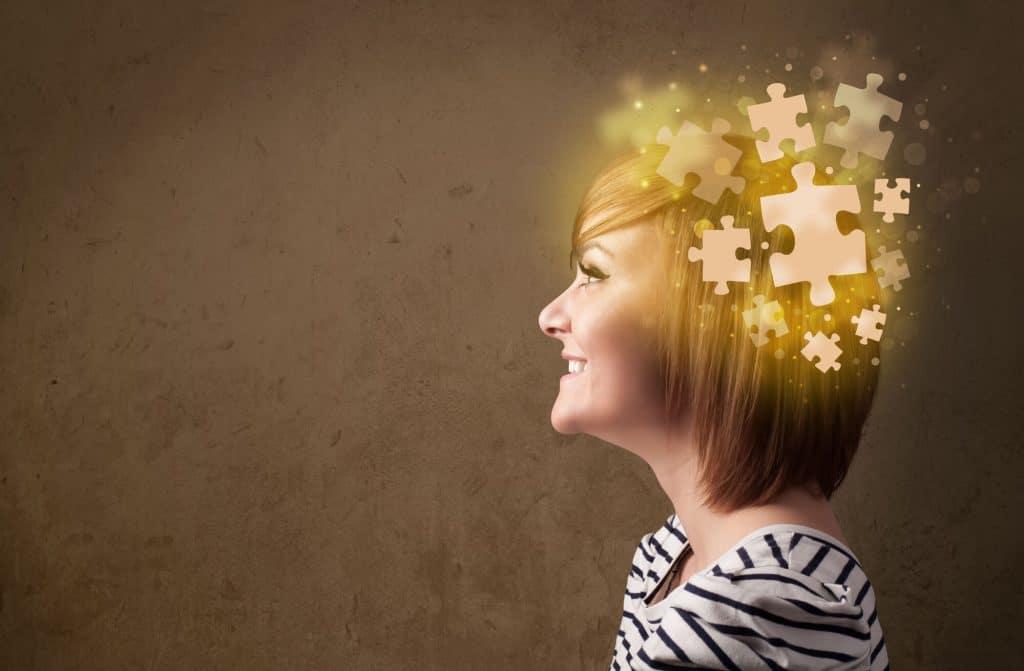 Gut health and brain health.  Serotonin puzzle pieces