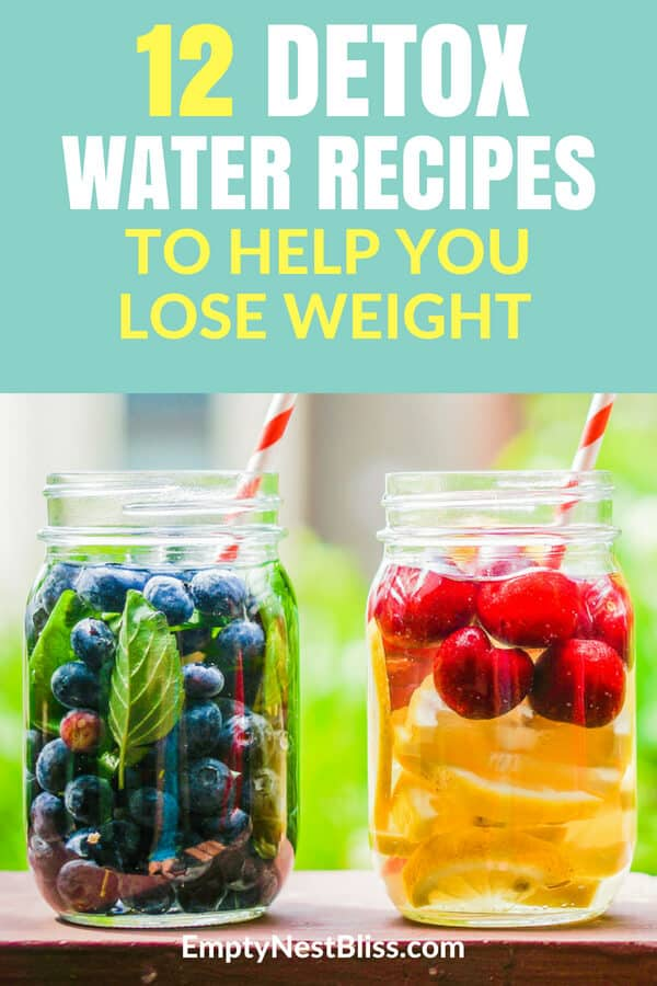 Healthy detox water recipes and infused water recipes to help you lose weight, detox and feel amazing! #detoxwater #weightloss #weightlossrecipes