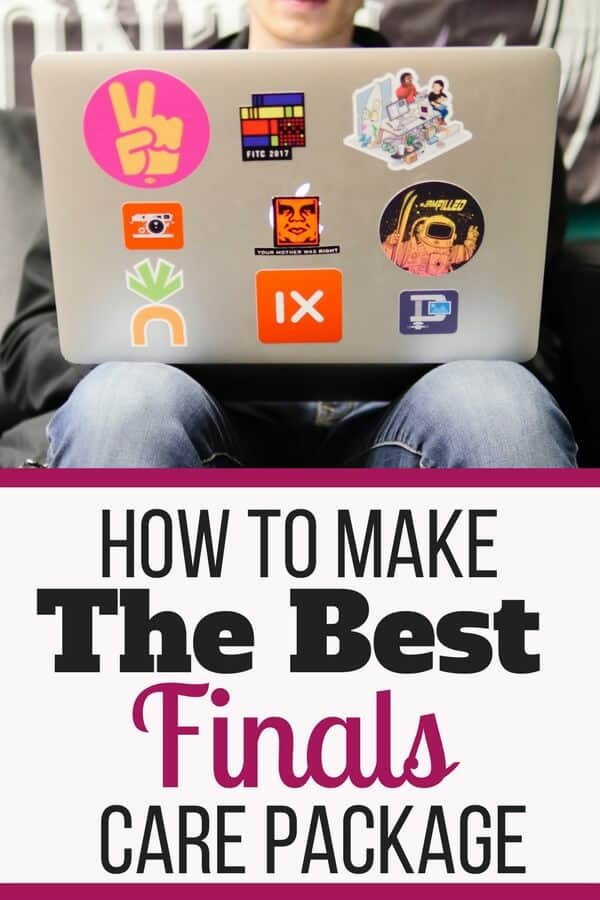 How to make the best finals care package! Plus a bonus printable list of care package ideas.