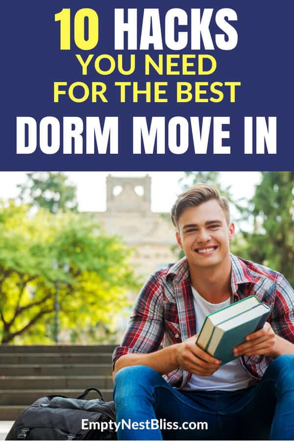 Move in dorm hacks to help your day go smoothly. #dormroom #college #dorm #parenting