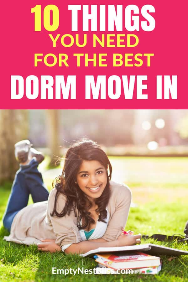 Move in dorm tips and move in dorm list for the easiest college move in day ever. #dormroom #dorm #college #parenting
