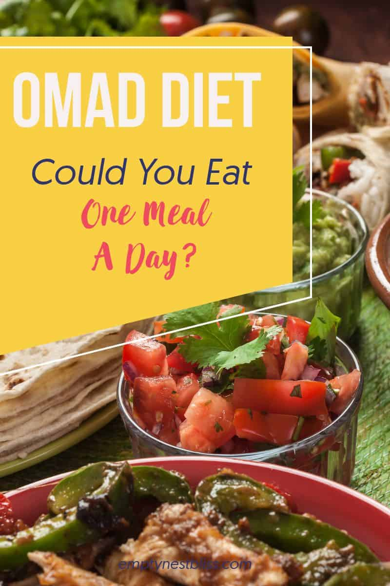 pinterest image of mexican food for the OMAD diet.