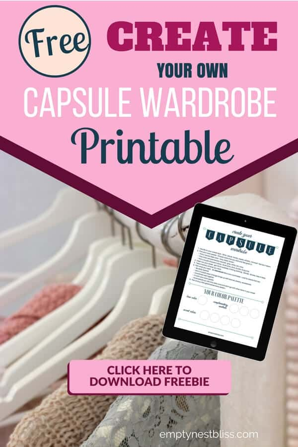 Free Printable! Create your own capsule wardrobe with this free how to printable.