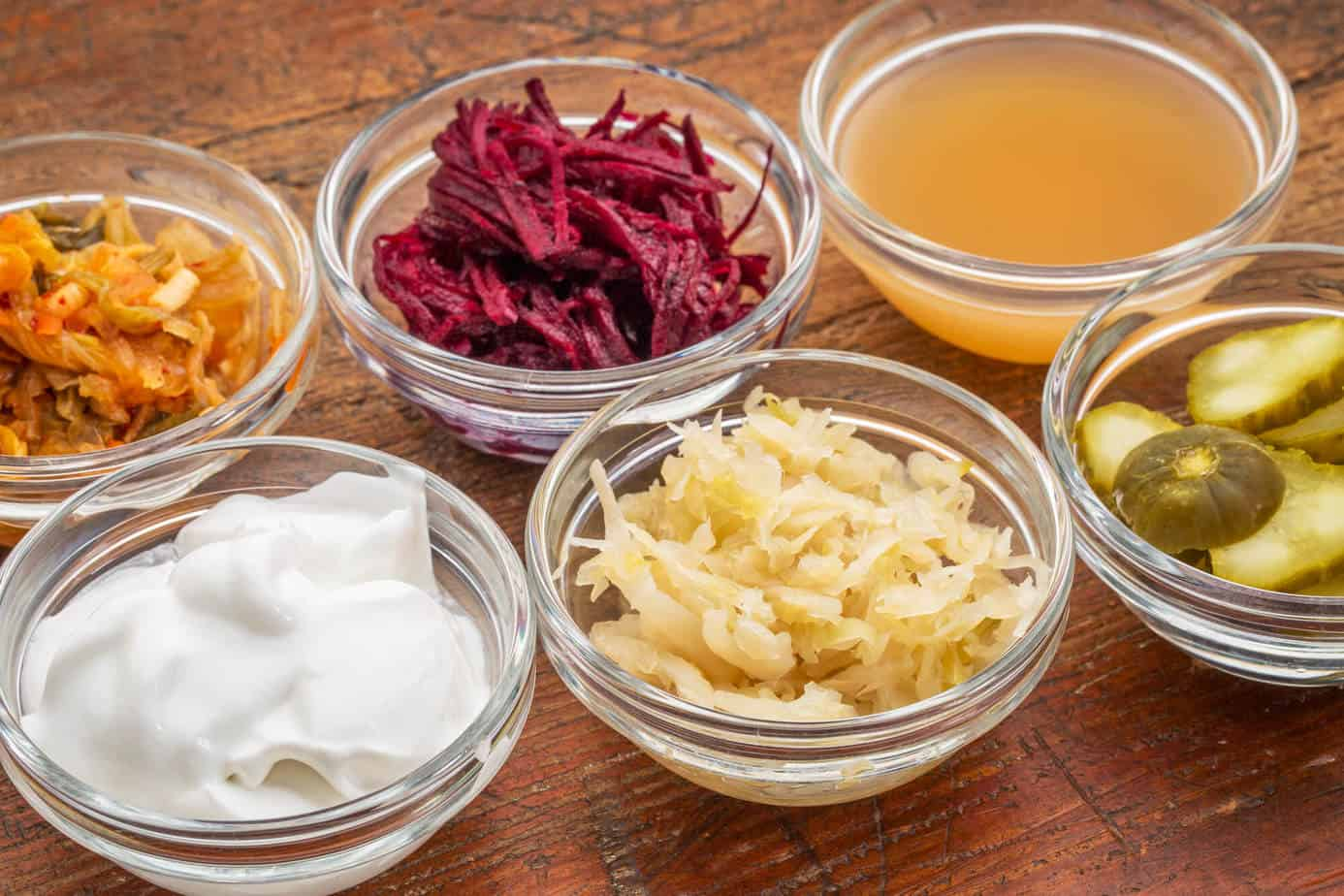 Fermented foods provide probiotics that improve your gut health.