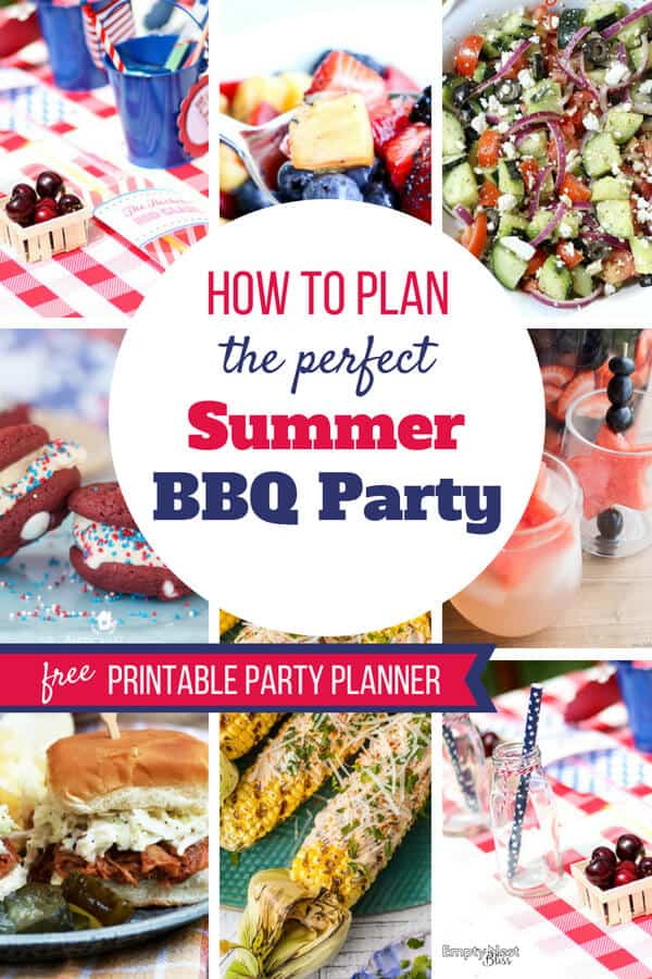 Summer BBQ Party Ideas for your best summer get together! Plus a free printable party planner so you can relax and have fun at your own party!