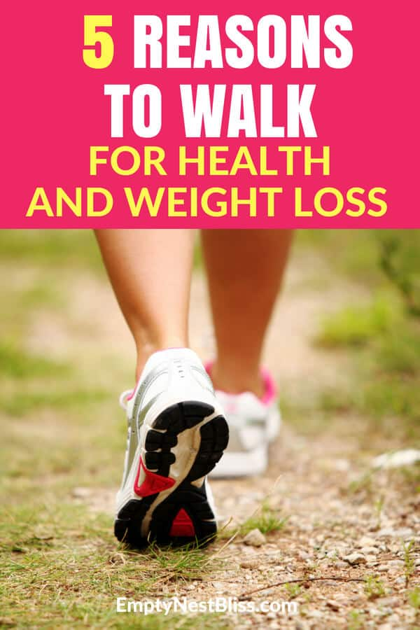 Walking benefits your health and can hel you lose weight. #fitnesstips #weightloss #walk