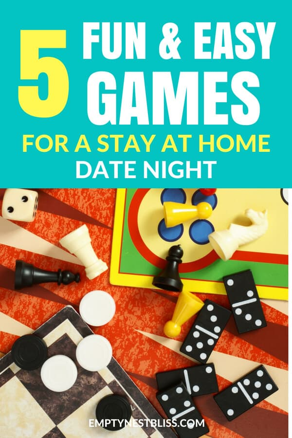 Date night games for couples at home! 5 fast, easy and fun games to play for your at home date night. #funfriday #games #marriage #datenight #happymarriage