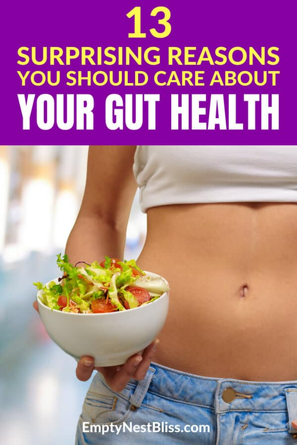 Improve your gut health and optimize your overall health 13 different ways. #healthyliving #healthylifestyle