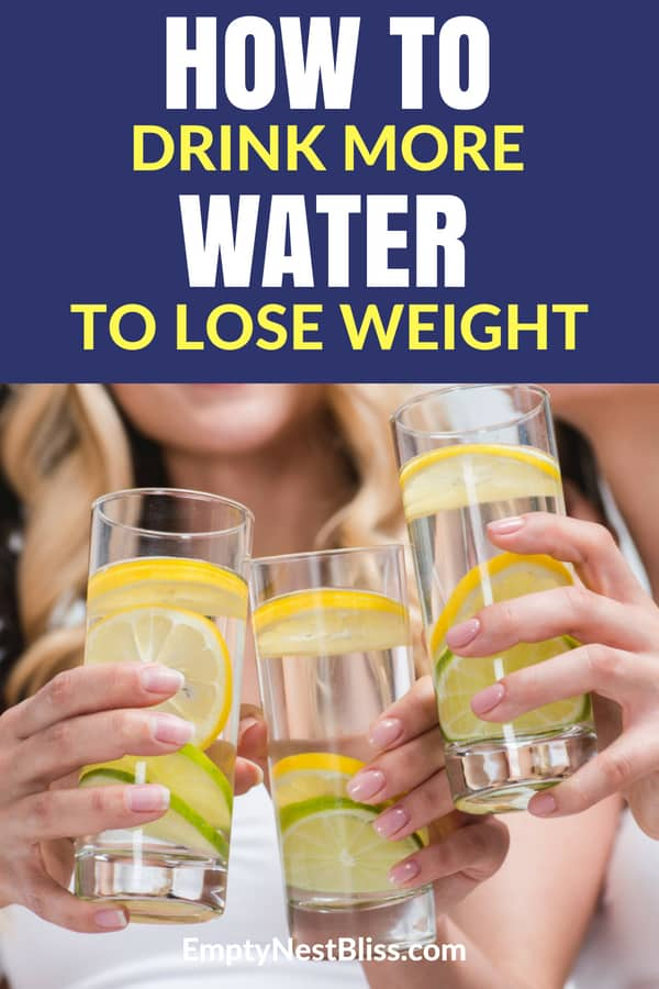 Drink water to lose weight with these easy tips. #water #healthyliving #fitness #weightlossfast