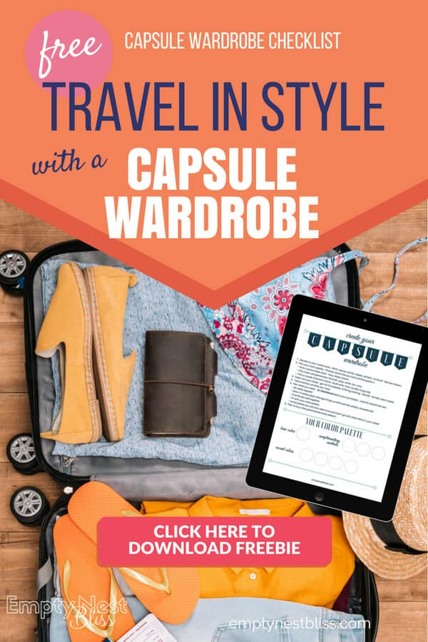 Travel Capsule Wardrobe experiment plus a free printable planner!